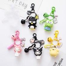 Mignon Anime Kuromi mélodie porte-clés Kawaii dessin animé grand chien aux oreilles grenouille pouding chien pingouin femmes sac pendentif porte-clés en gros