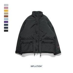 Image 2 - INFLATION 2020 Männer Winter Parka Jacke Einfarbig Herren Warme Parka Jacke Streetwear 10 Verschiedene Farbe Männer Parka Jacke 8761W