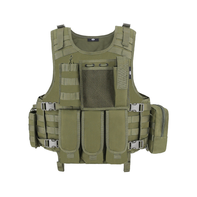 MGFLASHFORCE Airsoft Tactical Vest Plate Carrier Swat Fishing Hunting Military Army Armor Police Molle Vest 3