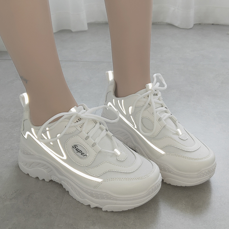 Reflective Chunky Women Sneakers Ladies