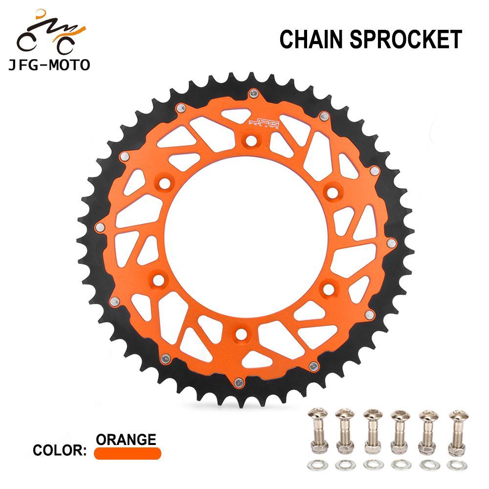 KTM EXCF250 2007 2008 2009 Gold X-Ring Chain Orange Rear Front Sprocket Kit