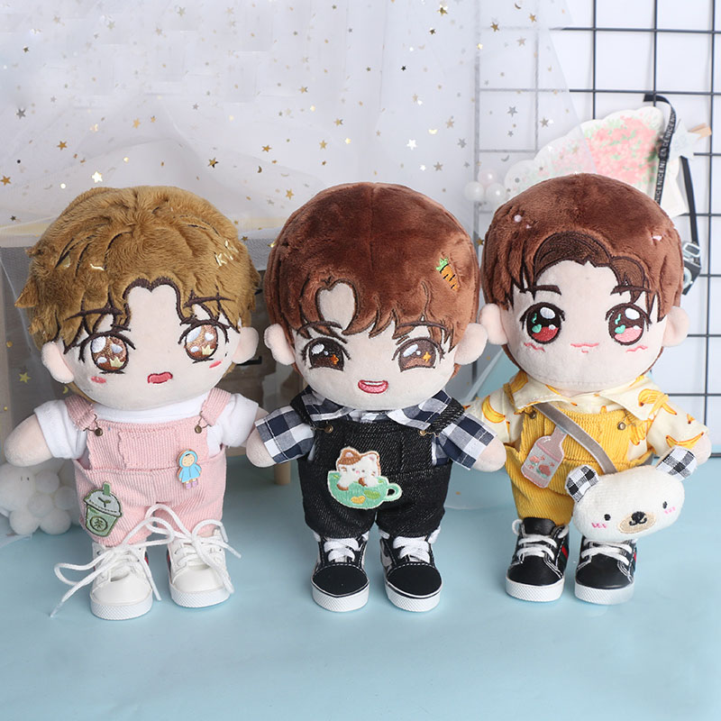 Doll Clothes Cartoon Pants Yellow Suspenders For 15 Cm 20CM Exo Doll Accessories