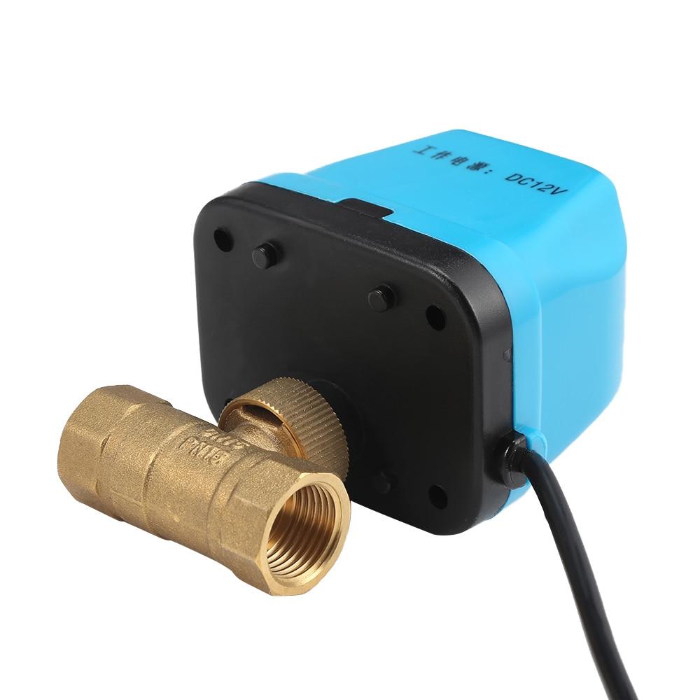Image 5 - 220V 12V электрический моторизованный шаровой клапан для кондиционирования воздуха воды Системы контроллер 2 полосная 3 жильный 1.6Mpa DN15 DN20 DN25-in Клапан from Товары для дома