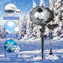 Led Mini Lamp Moving Snowfall Projector Outdoor Garden Laser Christmas Snowflake Light Xmas New Year Party