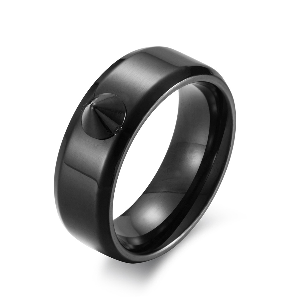 Self Defense Ring Personal Defense Weapons Men Women Survival Protection Finger Ring Safety Tool Titanium Steel - Random Color