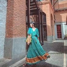 Женское Цветочное платье макси в стиле бохо летний плявечерние