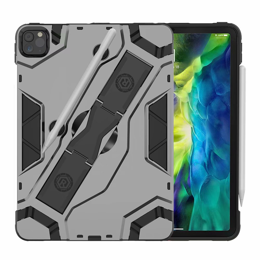 Black Black Shockproof Armor TPU PC Portable Hand Strap Stand Tablet Cover For Apple iPad Pro 11 inch