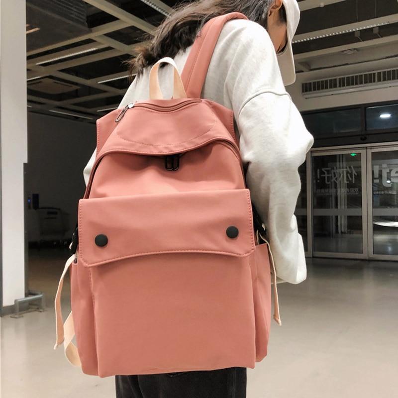Waterproof Nylon Backpack Female Travel Back Pack Girls's Schoolbags Backpacks For Teenagers Multilayer Fashion Book Bag Mochila