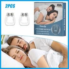 2 pçs ressonar anti ronco nariz clipe ronco rolha anel nasal dilatador fácil respirar ressonar solução dispositivo melhorar o sono para mulheres masculinas