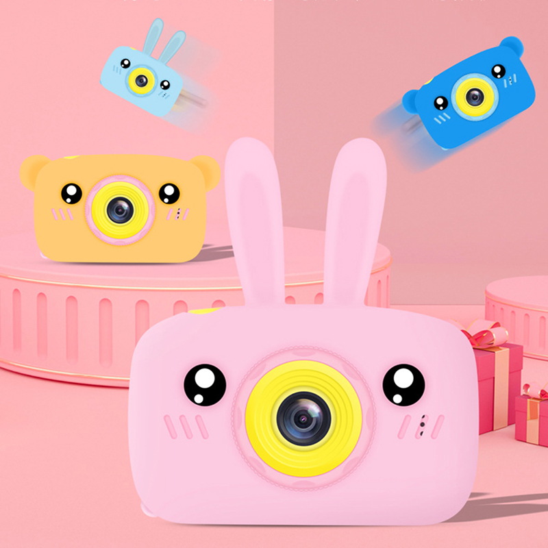2 Inch HD Screen Digital Mini Camera Chargable Kids Cartoon Cute Camera Toys Waterproof Outdoor Photography Props For Child Gift