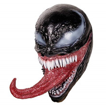 Halloween Party Props The Venom Latex Mask with Long Tongue Horror Beanie Hat Masks Helmet