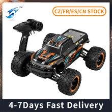 Linxtech 16889 1/16 45km/h 4wd rc carro grande pé sem escova de alta velocidade fora da estrada carro de controle remoto carro brinquedo para adultos crianças vs 9125