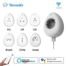Wi-fi Smart EU US UK AU JP France Chile Brazil Israel Socket Plug 16A with Power Energy Monitoring Works Alexa Google Home