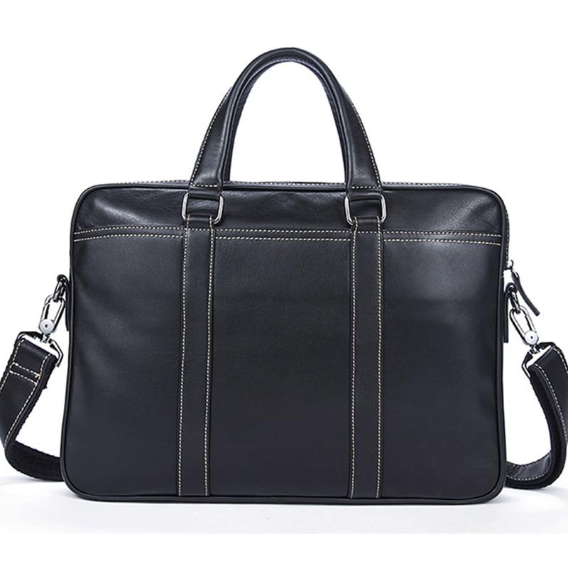 Fashion Handbag Cowhide  Leather Men Briefcase Brand High Quality Luxury Men's Messenger Bag For Male Business Bag Laptop
