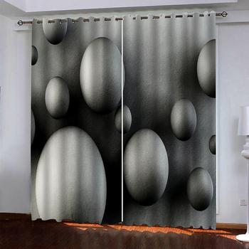 grey curtains Customized size Luxury Blackout 3D Window Curtains For Living Room stereoscopic 3d curtains