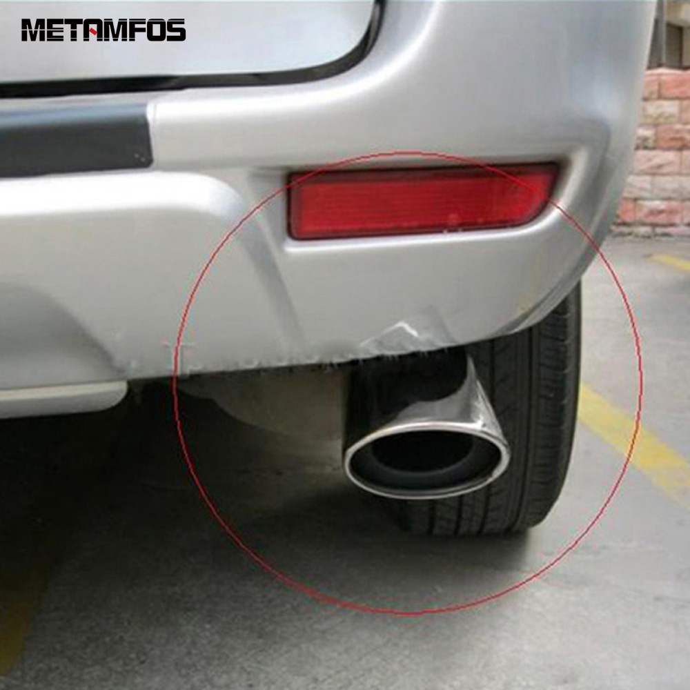 For Toyota Rav4 <font><b>Rav</b></font> <font><b>4</b></font> 2009 2010 <font><b>2011</b></font> Stainless Steel Muffler Exhaust Pipe Tailpipes Silencer Exterior Accessories Car Styling image