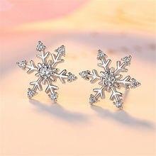 Элегантные женские серьги со снежинками льдом и снегом роскошные