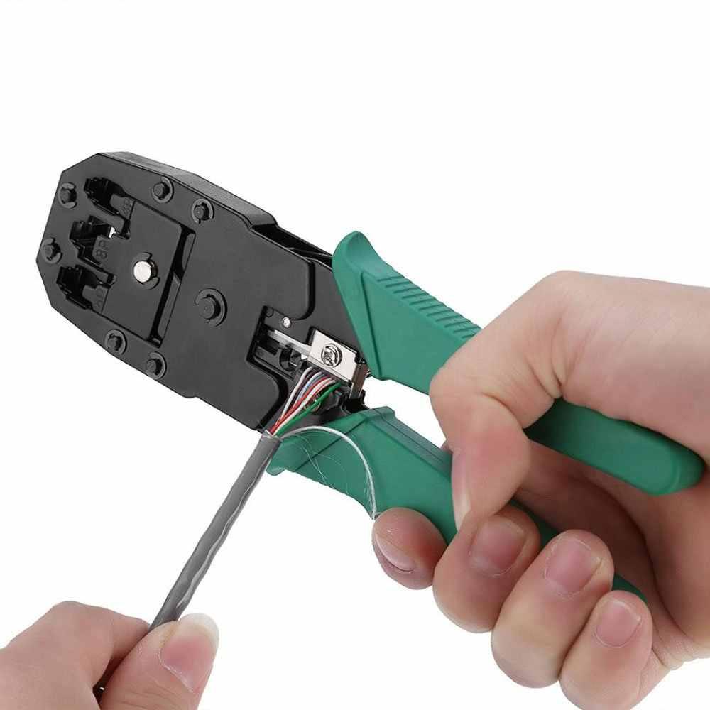 3 In 1 Multi-tool Krimptang Krimptang Multitool Crimper Tang Cutter Tool Set voor Netwerk en Telefoon kabels Modulaire