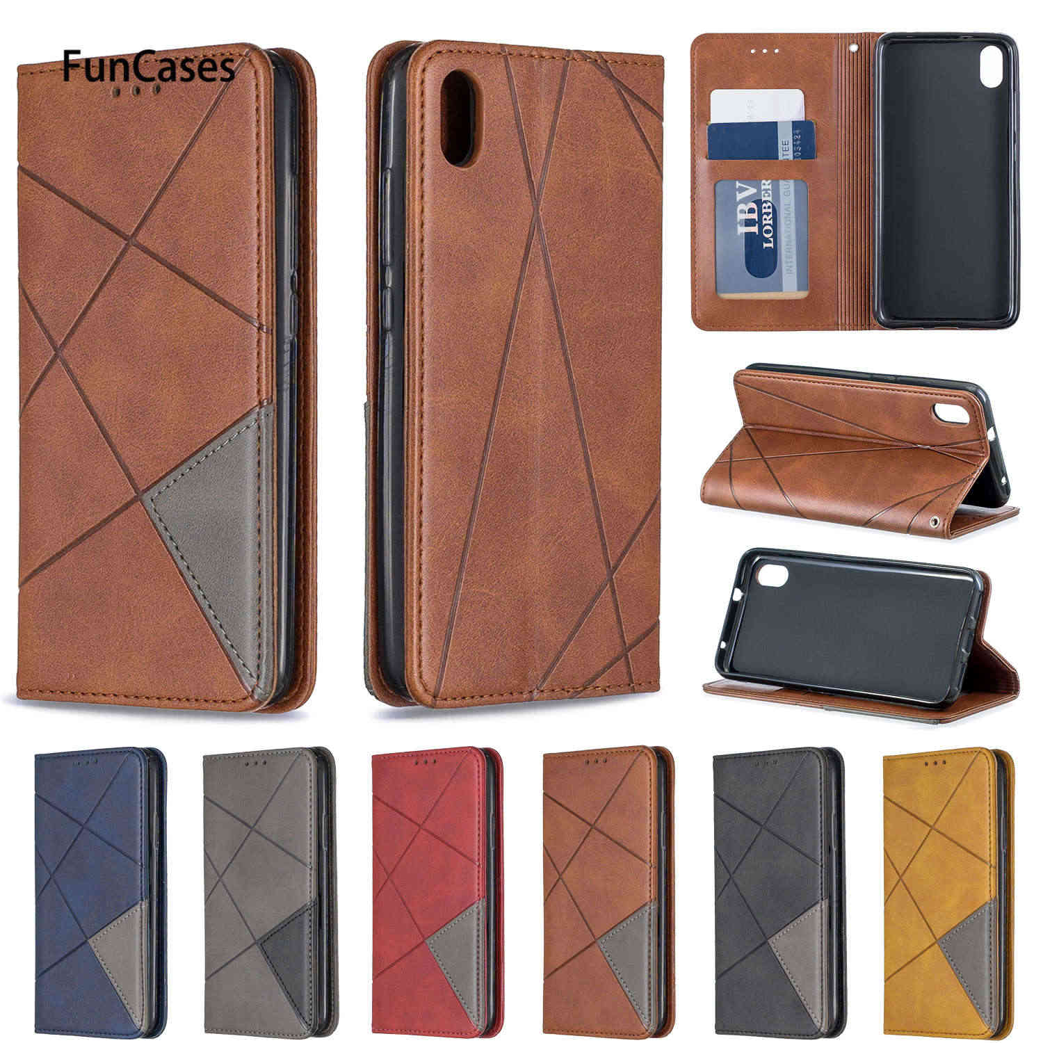 Business Leaves Cases For Xiaomi funda Redmi 7A Telefoon Hoesje sFor Xiaomi Redmi funda Note 7 PU Leather Flip Wallet Case