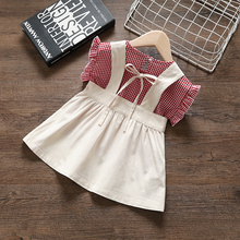 Baby Girl #8217 s summer outfits clothes sets plaid top + bib shorts suit for baby girls clothing sets babies birthday outerwear cloth cheap BarbieRabbit COTTON Polyester Fashion O-Neck Pullover REGULAR Herringbone Coat 6249-1