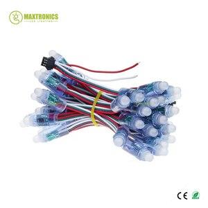 Image 2 - 50 נוריות 12mm WS2811 2811 IC מלא צבע פיקסל LED מודול אור קלט DC5V IP68 עמיד למים RGB צבע דיגיטלי LED פיקסל אור