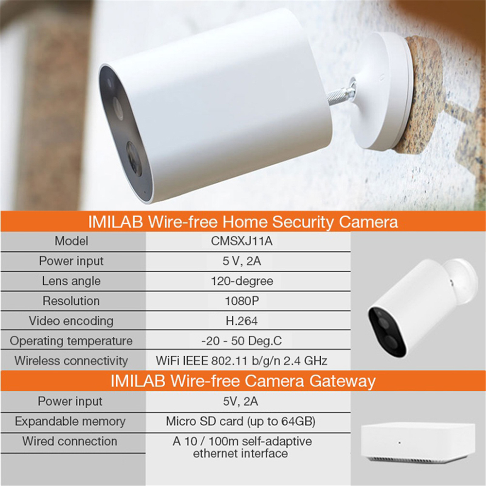 IMILAB EC2 Wifi Camera 1080P HD Camera Yi Home Security Camera Outdoor Wireless Camera Cctv Surveillance Camera Work with Mijia