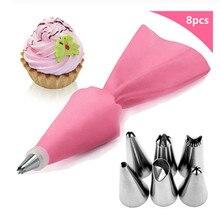 Fondant-Molds Pastry-Bag Cake-Decorating-Tools Silicone 8pcs/Set Nozzle Tips Piping-Nozzle-Cream