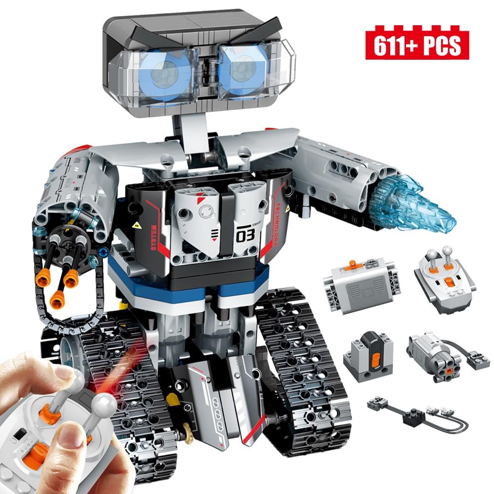 New Techic RC Robot 611PCS Building Blocks City Series Smart Robot Car Weapon Future Weapon Brick Boy Gift
