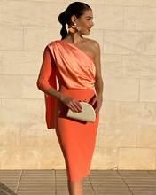 Женское короткое коктейльное платье robe de soriee вечернее