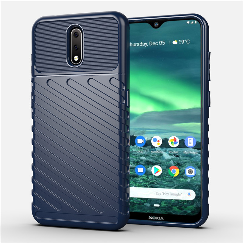 TPU Case For Nokia 2.3 Cases Military Protection Rugged Shield Soft Silicone Rubber Back Cover For Nokia 2.3 Case