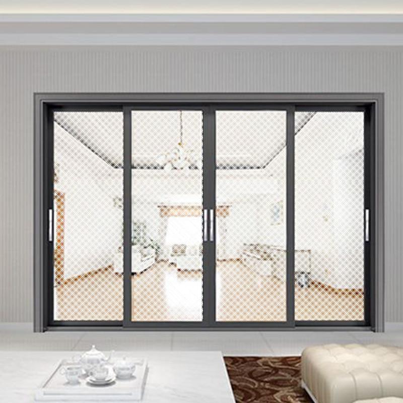 HOHOFILM 90cm x 3000cm Weiß Quadratischen muster Fenster Film weiß Kreuz Adhesive Matt Abnehmbare Dekorative Glas Fenster Aufkleber - 3