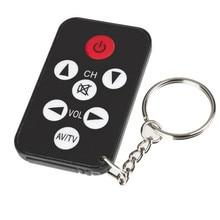Mini universal infravermelho ir tv conjunto 7 teclas de televisão controle remoto controlador chaveiro chaveiro chaveiro facilmente