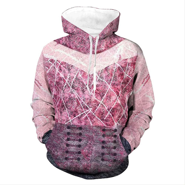 Descendants 3 Carlos Hoodie Cosplay Jacket Full-Zip Sweatshirt Hooded Coat