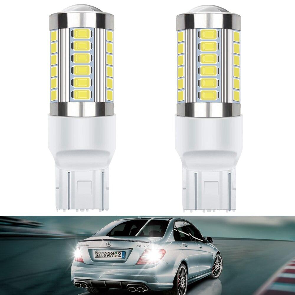 Светодиодные лампы Canbus1156 BA15S, 2 шт., 7443, 7440, T20, w21w, P21W, без ошибок светодиодный для указателей поворота, задсветильник хода, 3156, 3157, P27, 5 Вт