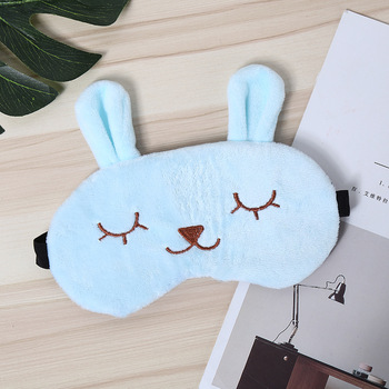 Gray Soft Touch Cartoon Eye Mask Travel Lunch Break Sleep Shading Breathable Natural Sleep Mask Figures Gift Kids Toys image