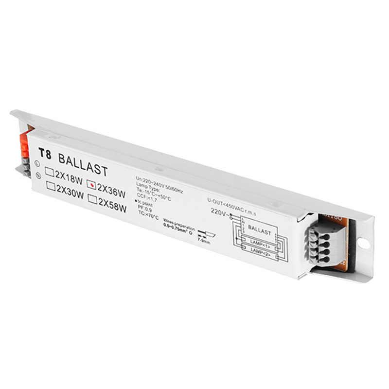 220-240 v ac 36 w de tensão larga t8 balastros fluorescentes eletrônicos da lâmpada suporte dropshipping