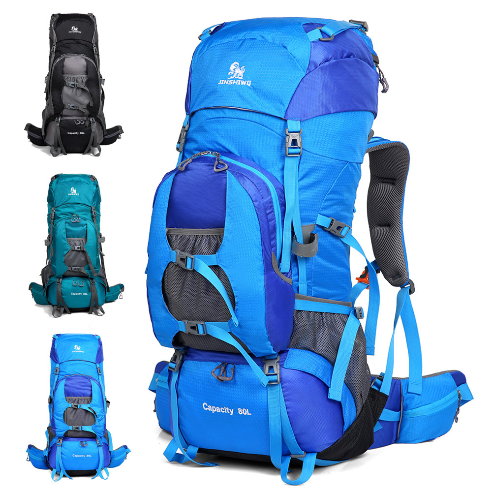 Outdoor Mountaineering Bag Men And Women Large Capacity Backpack Camping Tent Travel Hiking 80L Waterproof Outdoor Bag