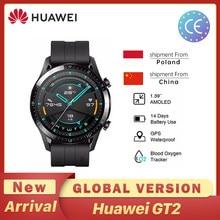 Huawei GT2 GT 2 inteligentny zegarek globalna wersja 46mm SmartWatch GPS wodoodporny Bluetooth dla androida iOS tętno Ringer Pulse