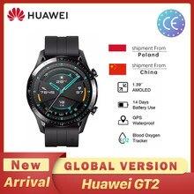 Huawei-reloj inteligente GT2 GT 2, versión Global, 46mm, GPS, resistente al agua, Bluetooth, para Android e iOS, pulsómetro