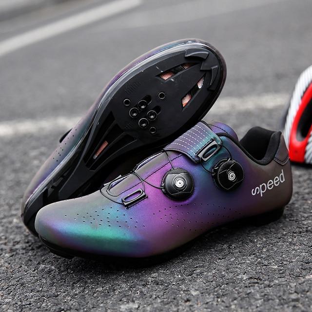 Mtb ciclismo sapatos homem auto-bloqueio profissional atlético sapatos de bicicleta sapaticultura respirável tênis tamanho grande 36-47 4