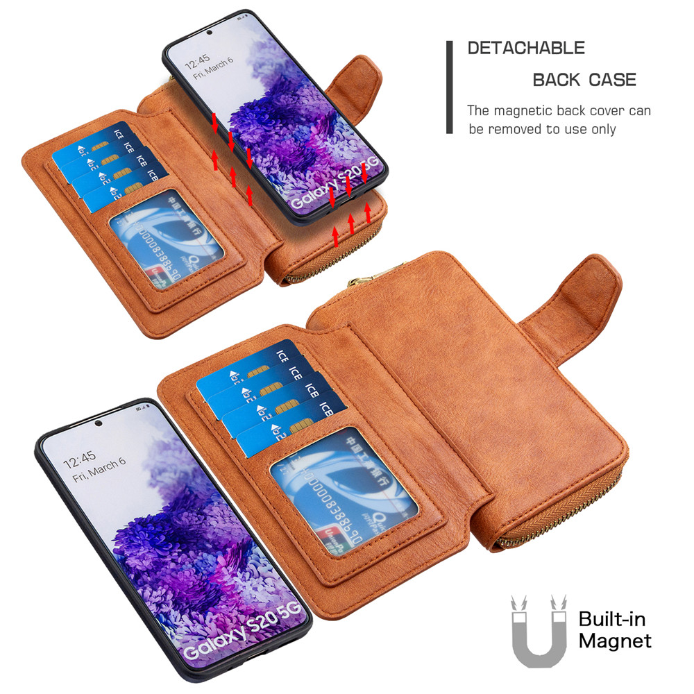 Retro Wallet Case For Redmi Note 9S 9 Pro Max 8T 8 7 8A 7A Zipper Purse Card Slot Leather Holder Case For Xiaomi Mi Note 10 9T