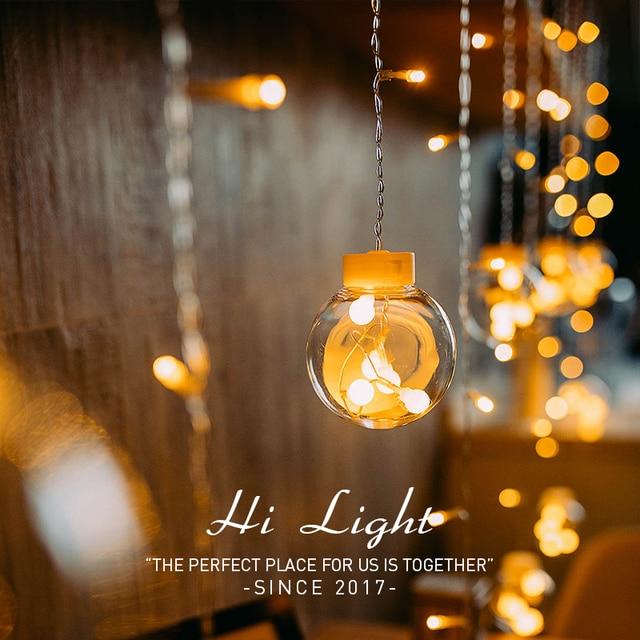 Led銅線スターカーテンストリングライトランプ屋外の結婚式のための妖精の照明クリスマス装飾220 220v euプラグキラキラ輝いて