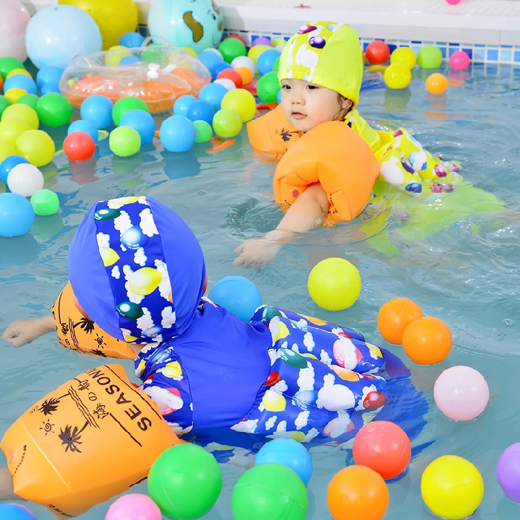 Children Floating Bathing Suit Baby One-piece Swimming Buoyancy Bathing Suit Men And Women Baby Hot Springs Bathing Suit