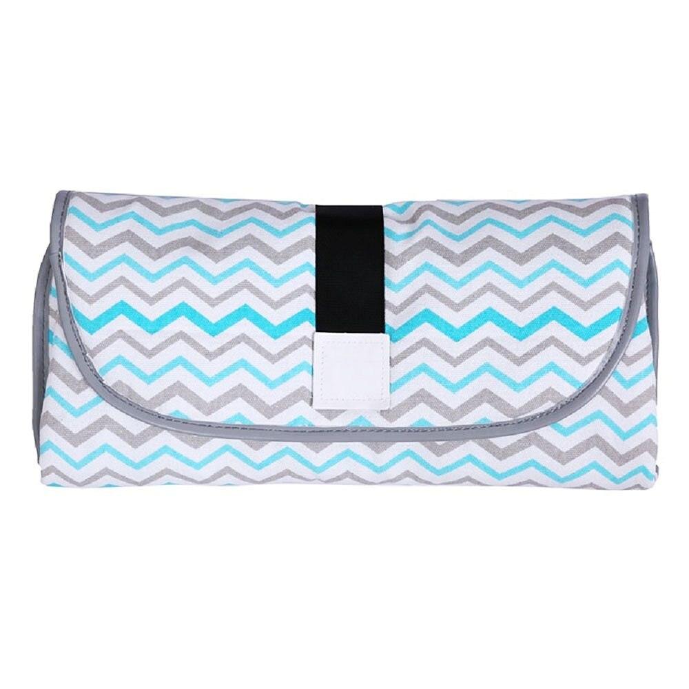 Новые 3 в 1 Водонепроницаемый пеленальный коврик пеленки мнчества, Портативный чехол для детских подгузников коврик чистой ручной складной сумка из узорчатой ткани - Цвет: CPD005