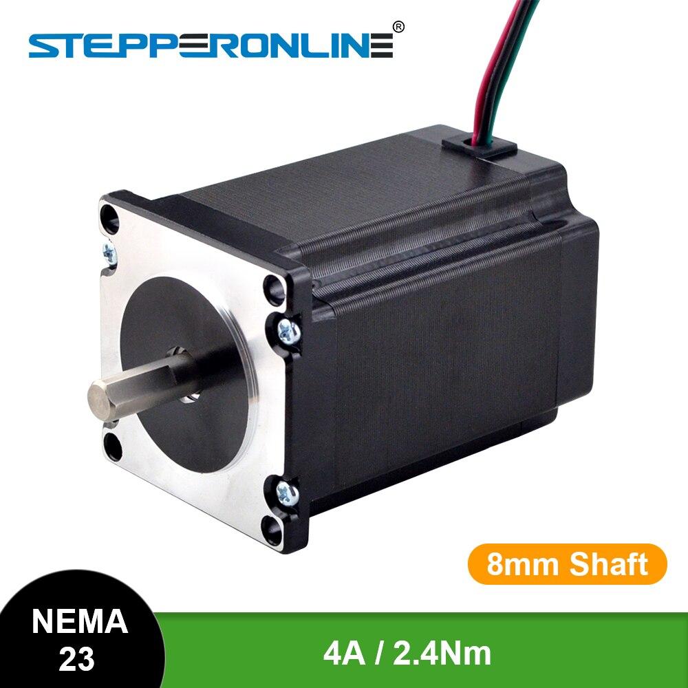 Шаговый электродвигатель Nema 23, 2,4 нм 57x82 мм 4A D = 8 мм Nema23, фрезерный станок с ЧПУ, Гравировальный фрезерный станок