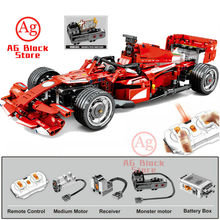 Compatible Legoed RC Car with Monster Motor Racer F1 constructor Building Block City Technic Remote Control Cars Brick Toy(China)
