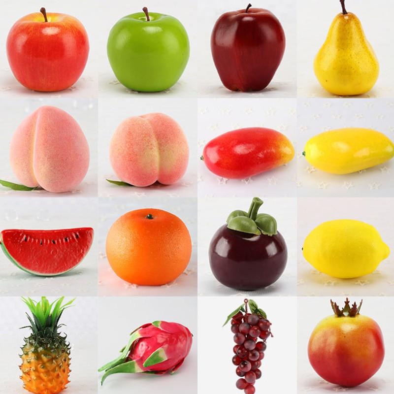 Artificial Fake Fruit Home Decoration Simulation Orange Ornament Craft Food Photography props Home Apple Pear Mango Banana Lemon