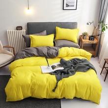 Pillowcase Bedding-Set Duvet-Cover Bed Linen Double-Sided Cotton Flat-Sheet JUSTCHIC