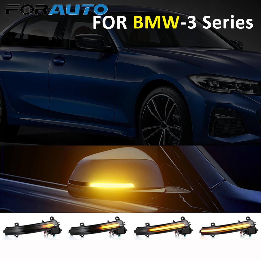 For BMW F20 F21 F30 F80 F82 X1 E84 E90 I3 3 Series Car Side Wing Rearview Mirror Indicator Blinker LED Flowing Turn Signal Light image