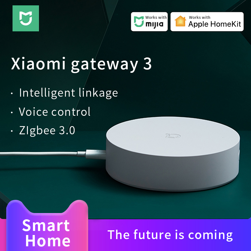 Xiaomi Mijia Gateway 3 Mi Smart Home Hub Mi Multi-Mode Gateway ZigBee 3.0  Work With Mi Home APP Apple Homekit APP